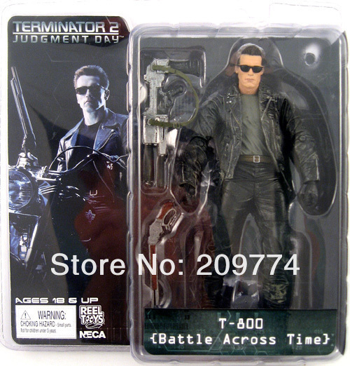 "NECA Terminator 2 T2 T-800 ARNOLD BATTLE ACROSS TIME 7"" Figure"