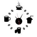 2Sets Time-limited real quartz wall clocks coffee diy clock fashion acrylic combination of watchesrushed Hot Sale