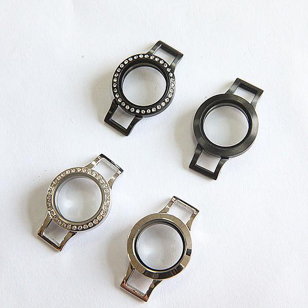 1 Trendy Silver Black Mixed 25mm Twist Stainless Steel Locket Leather Bracelet - Mr Leo' store