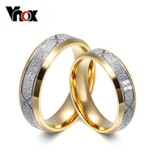 Buy Vnox fashion couple ring women men frosted matte stainless steel CZ lover wedding engagement rings for $2.72 in AliExpress store