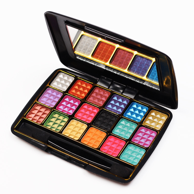 2016 Make Up 18 Colors Eye Shadow Palette To Faced Diamond Particles Eyeshadow High Quality Glitter With Eye Shadow Brush(China (Mainland))