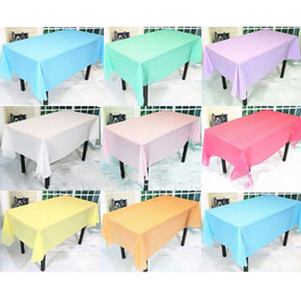 "Plastic Tablecover Table Cloth Cover Party Wedding Events Tableware decoration tablecloth tablecloths wedding pvc 54"" X 72""(China (Mainland))"