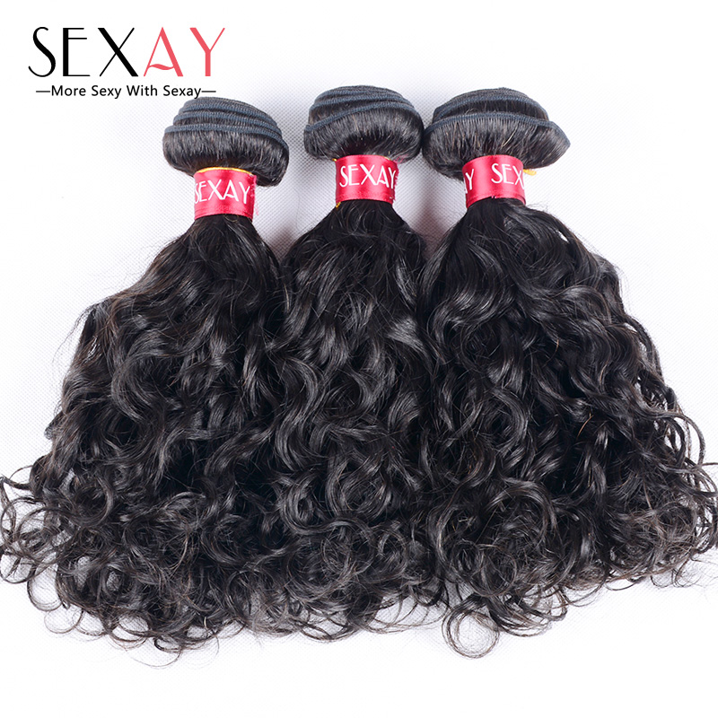 Гаджет  7A Grade Peruvian Water Wave 4 Bundles Deals 100% Unprocessed Virgin Hair Bouncy Curls Weave Top Human Hair Extensions None Волосы и аксессуары
