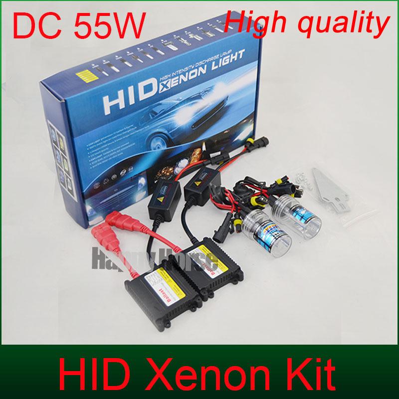 Free Shipping 55W DC Xenon Hid Kit H1 H3 H4-1 H8 H7 H11 9005 9006 880/1 xeon bulb 3000k 4300k 5000k 6000k 10000k hid ballast(China (Mainland))