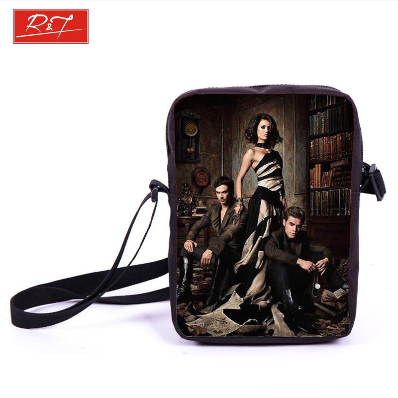 Tv Show The Vampire Diaries Prints Mini Crossbody Bag Young Women Travel Bags Girls School Bags Bookbag Messenger Bag Best Gift