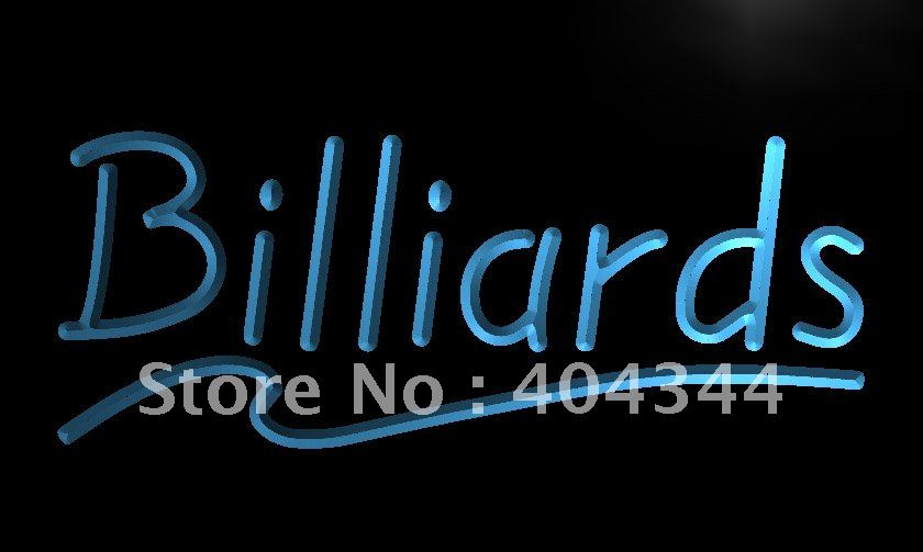 Lb266 billiards pool room bar led neon light sign home for Room decor neon signs