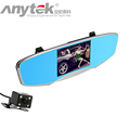 Anytek Q3 Car DVR HD Wide angle Dual lens Driving Recorder Night Vision Rear View Mirror