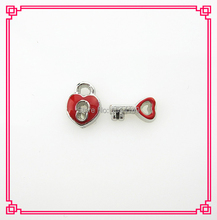 Buy Hot selling 20pcs/lot silver mix red lock key floating charms living glass floating memory lockets charms for $4.10 in AliExpress store