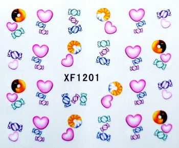Free shipping 100pcs x  Nail Art  Lovely Butterfly & Bow Water transfer Temporary Tattoos  Decal Stickers 20 Desgins1181-1200