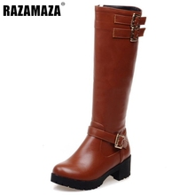 Buy Women High Heel Over Knee Boots Fashion Snow Long Boot Warm Winter Brand Botas Riding Footwear Heels Shoes Size 34-43 for $52.90 in AliExpress store