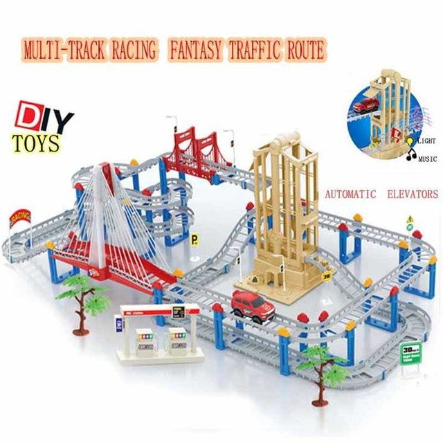 Electric Car Track Set