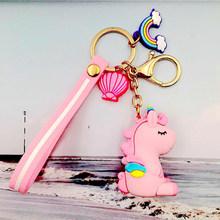 Горячие pudcoco Новые поступления Горячие Дети Единорог брелок Лошадь Подвеска для ключей сумок цвет кулона Прекрасный маленький кулон(China)