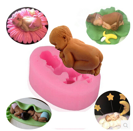 New Food-grade Silicone Mold 3D baby,Fondant Cake Decorating Tools,Silicone Soap Mold,Silicone Cake Mold A032(China (Mainland))