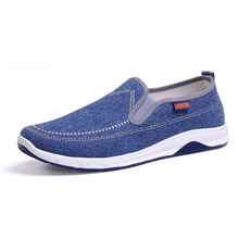 New Mens Breathable High Quality Casual Shoes Jeans Canvas Casual Shoes Slip On men Fashion Flats Loafer TL163