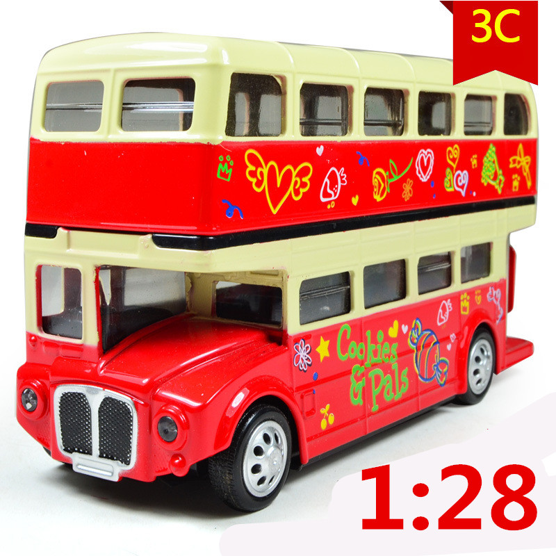 1:28 Alloy car models, high simulation city buses buses trams, buses transport children's toys gift,free shipping(China (Mainland))