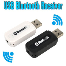 Usb adaptador de audio receptor de música bluetooth 3.5mm receptor de audio estéreo inalámbrico de altavoces para iphone 4/5/5s/6 plus para samsung
