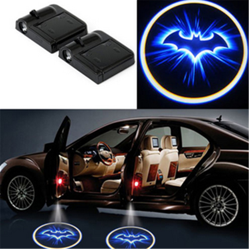 Car Styling Wireless Auto Car Bat Door Light Ghost Shadow Blue LED Car Logo Laser Projector For Volkswagen(China (Mainland))