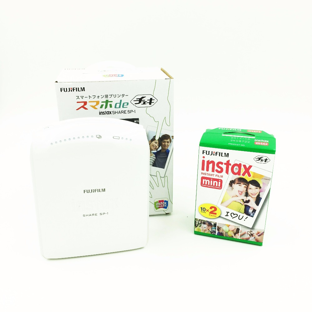Fujifilm Instax Share SP-1 Mobile Printer for Fuji Instax Mini Film Supports Android iOS + 20 Instant Film Free Shipping(Hong Kong)