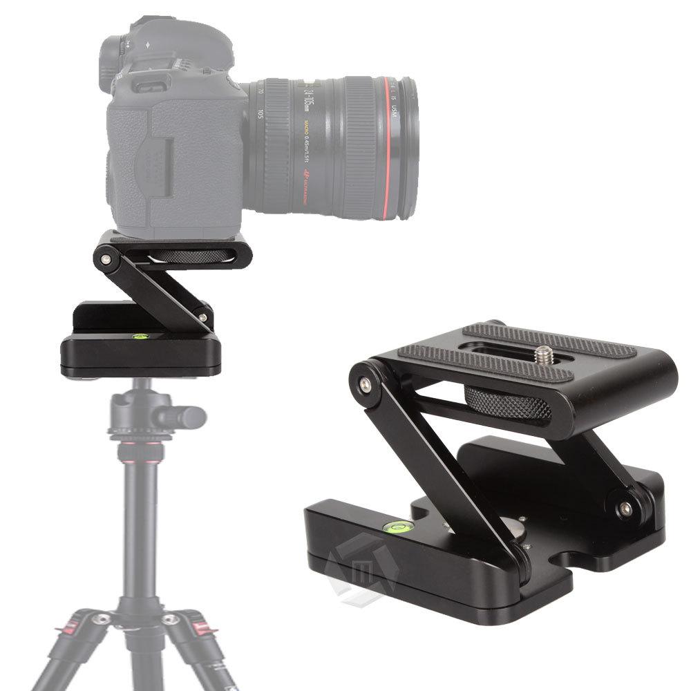 Mcoplus Aluminum Folding Camera Z Desktop Stand Holder Tripod Flex Pan for Canon Nikon DSLR with 1/4 3/8 Screw Connector<br>