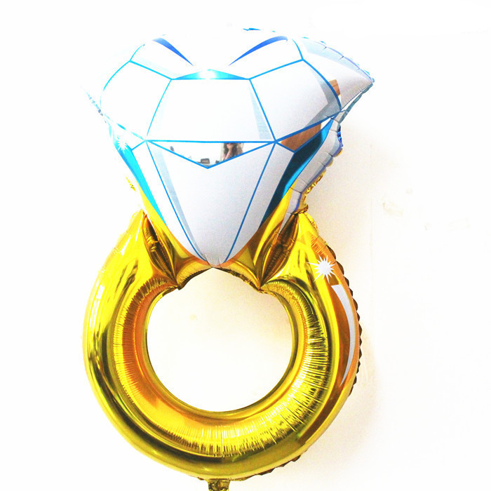 Hot Sale 36inch Very large Gold Diamond Ring Foil Balloons Wedding Party Decorations Helium Balloon(China (Mainland))