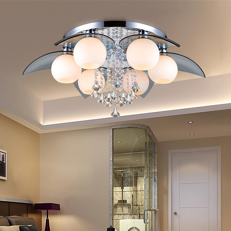 Modern Ceiling Lamp 25W Crystal Led Ceiling Lamp Living Room Lamparas De Techo Crystal Lamp For Living Room Lamp Light Fixture(China (Mainland))
