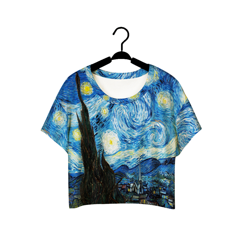 Hot-Selling tshirt NEW Women t shirt 3D Print Van Gogh Paintings Digital Printing One Size t-shirt(China (Mainland))