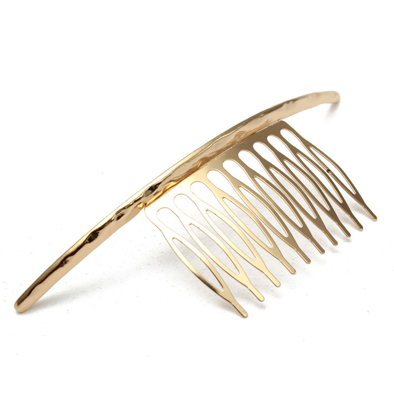 New Trendy Design Gold Plated Silver Plated Hair Comb Simplicity Metal Accessories Fashion Jewelry For Women(China (Mainland))