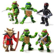 2015 Hot sale 6Pcs/lot Teenage Mutant Ninja Turtles TMNT Action Figures Toy Set Classic Collection(China (Mainland))