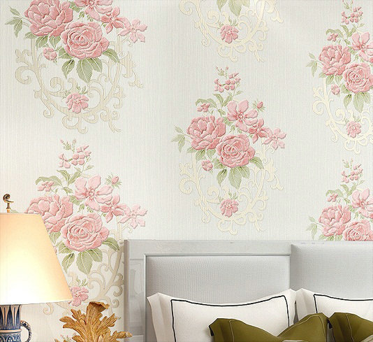 Flower 3d Wall Panels : Big flower wallpaper colors floral stereo wall paper