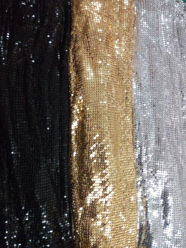 Buy Yy Fabric 150cm X 45cm Metal Mesh Fabric Metallic Cloth Metal Sequin