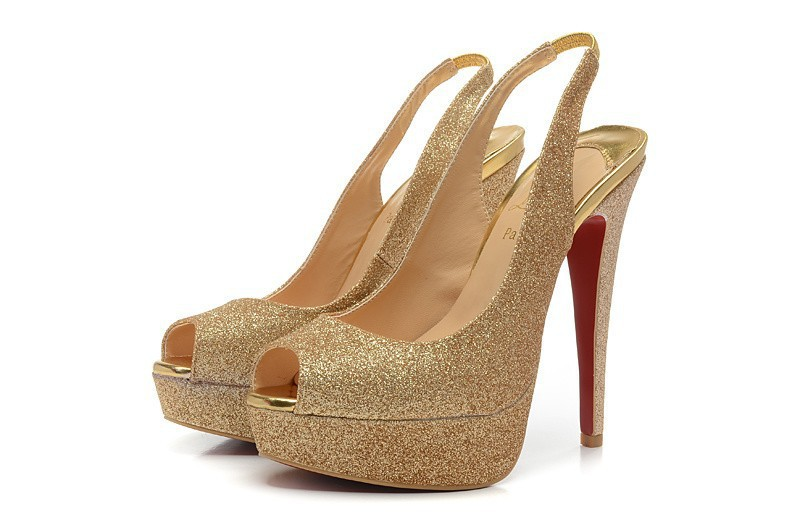 Hotsell gold sequins fish head lady fashion shoes red for Fish head shoes
