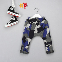AD Children's Stylish 95% Cotton Soft Fabric Camouflage Harem Pants Kid's Comfortable Baggy Trousers For 2-10 Years Old 2 Colors(China (Mainland))