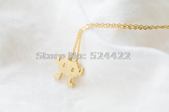 Min 1pc Gold and silver pendant necklace cute cool adventure pretty neckace jewelry XL093