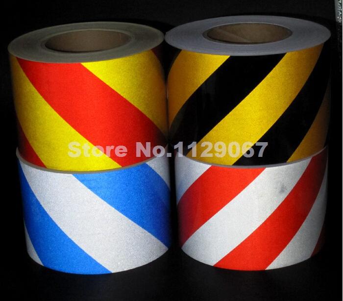4 цветов выбрать 10 см х 10 м безопасности светоотражающие ленты отражают наклейки самоклеющиеся предупреждение предупреждение ленты высокое видимость