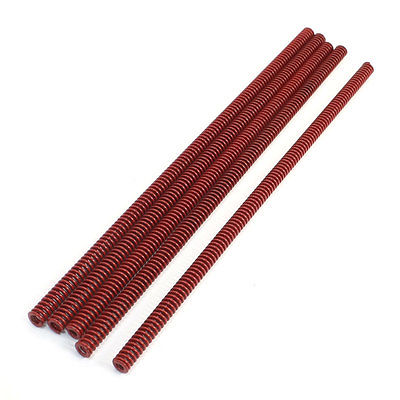 Red Chromium Alloy Mould Flat Wire Compression Spring 10mmx5.5mmx300mm 5 Pcs ZMM(China (Mainland))