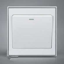 Alta calidad interruptor de pared blanca fuente de alimentación de una abierta interruptor de control de iluminación decoración de la casa switch on / off 1 interruptor de encendido manipulador un