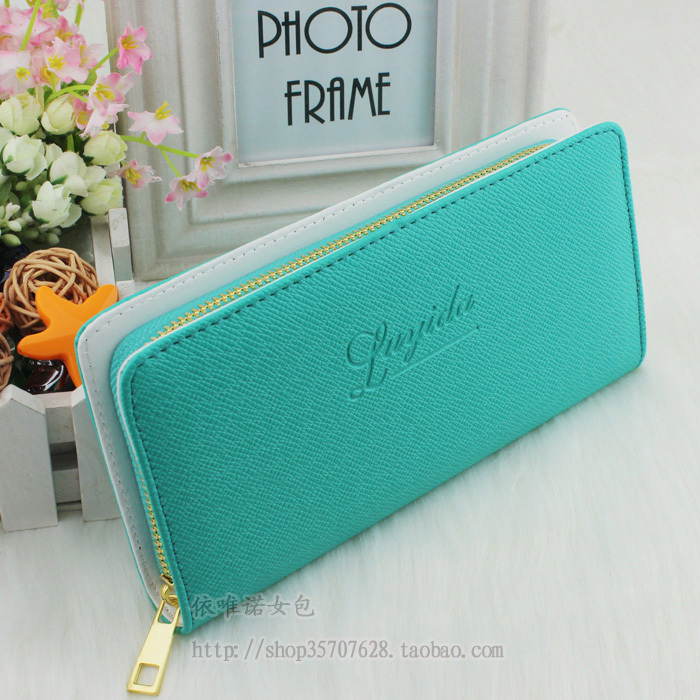 Fashion Bag PU medium-long style female coin purse single zipper Wallets clutch bags wallet woman hangbag free shipping(China (Mainland))