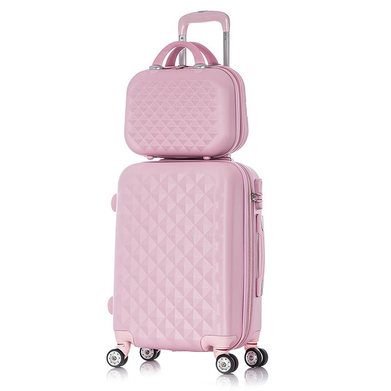 "20 inch""24 inch""inch diamond pattern Rolling luggage travel bag,Boarding Suitcase sets,Women wedding box,Wheels password Trolley Carry-Ons"""