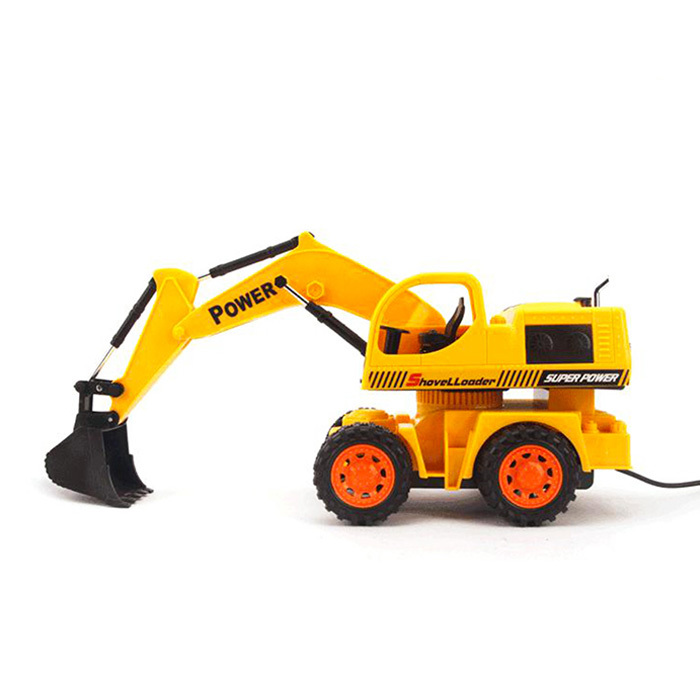 RC control engineering vehicles digging machine truck Metal & Plastic Model Excavator Toy Cars Digger toys Children Gifts - Hot Flash store