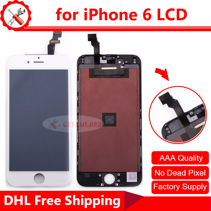 10PCS Bulk Sale LCD Display for iPhone 6 LCD, Touch Screen Digitizer for iPhone6 LCD Assembly with Free DHL Shipping(China (Mainland))