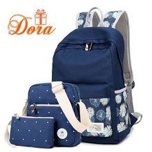 Printing Canvas Women Backpack rucksack 2016 travel bags laptop backpacks for teenage girls student school bags for teenagers(China (Mainland))