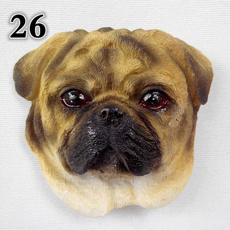Novelty Cartoon Dog Fridge Magnets Kawaii Cute Animal Decorative Refrigerator Souvenir Magnetic Sticker FA5-13L