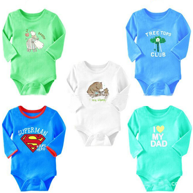 Baby Romper Unisex Baby Clothing Cartoon bear pattern white conjoined Baby Costume dress outfit Long-sleeved autumn kids clothes(China (Mainland))