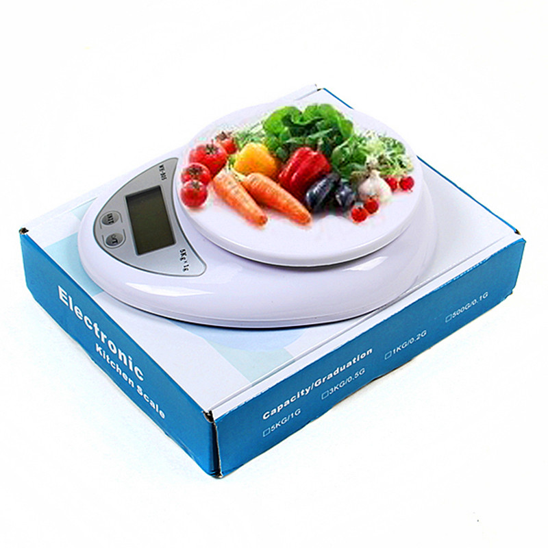 5kg x 1g digital kitchen scale diet food compact lcd kitchen scale