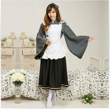Free Shipping 2015 Hot Love Live Cosplay Costume Honoka Include Headdress Collar Clothes Kawaii Maid For
