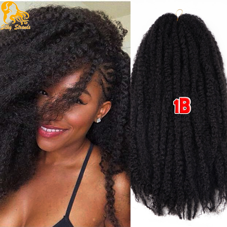 Crochet Braids Curly Afro : Afro Kinky Twist Hair Crochet Braids 12 Colors Ombre Marley Braid Hair ...