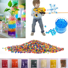 10000pcs/packet 9-13mm colored orbeez soft crystal water paintball nerf gun bullet grow water beads grow balls water gun toys(China (Mainland))