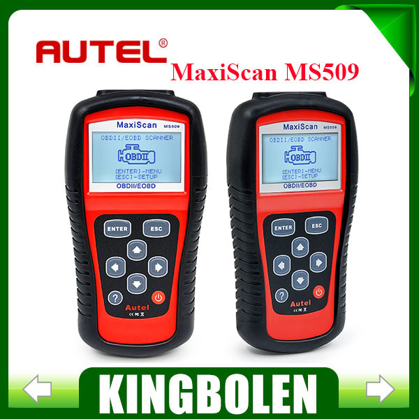 2015 Newest Version OBDII/EOBD CODE READER AUTEL Maxiscan MS509 auto scanner coverage(US, Asian & European) MS 509(China (Mainland))