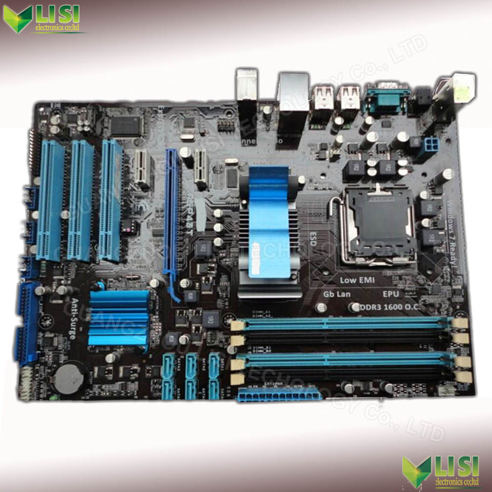 free shipping P5P41T 775 motherboard  for Asus P5P41T PLUS DDR3 Intel LGA 775 desktop system motherboard<br>