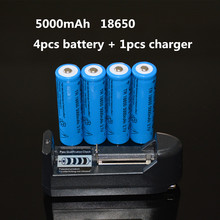 AAA AA 18650 16340 14500 10440 Rechargeable Battery Universal Charger + 4* 18650 5000mAh battery flashlight rechargeable battery